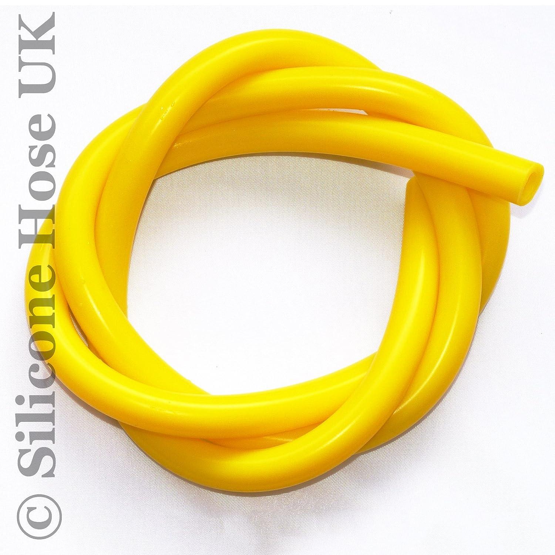 amarillo Tubo para v/álvula de vac/ío de silicona 6 mm ID