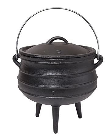 Amazon Com Jmiles Cast Iron Potje For Outdoor Fireplace Setting