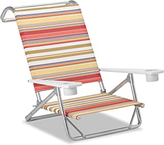 product image for Telescope Casual M54131002 Original Mini-Sun Chaise, Multi-Color Stripe, 2 Pack