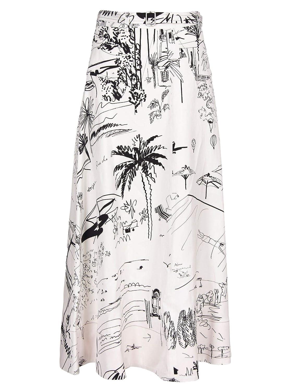 Paul Smith Women's W1R114SA1031001 White Viscose Skirt