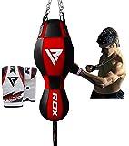 RDX Boxe 3 en 1 Sac De Frappe Lourd Angle Haut Du Corps Vitesse De Balle Rempli MMA Pied Poing Kickboxing Muay Thai