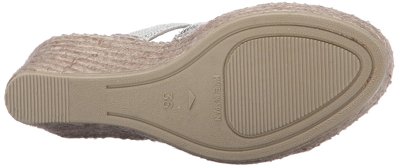 Andre Assous Women's Laurel Espadrille Wedge EU Sandal B0195I1YF2 39 M EU Wedge / 9 B(M) US|Silver 0e0fd4