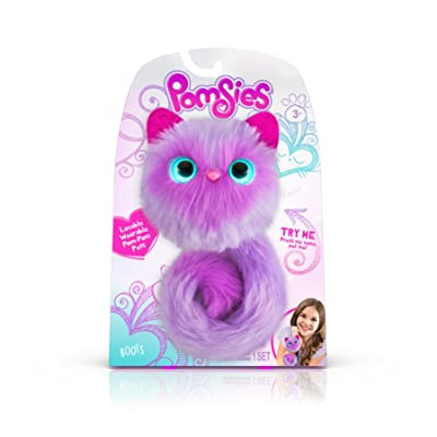 Pomsies 1881 Boots Plush Interactive Toys, One Size, Purple, Purple/Lavender, Model:01881: Toys & Games