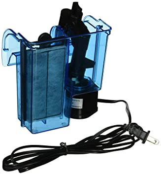 Penn-Plax Cascada Hang-On Filtro de Acuario con Quad Sistema de filtrado Limpia hasta 10 Gallon Depósito: Amazon.es: Productos para mascotas
