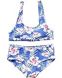 MOOSKINI Womens Padded Two Piece Tankinis Printed Leaf Bikini Set Swimsuit