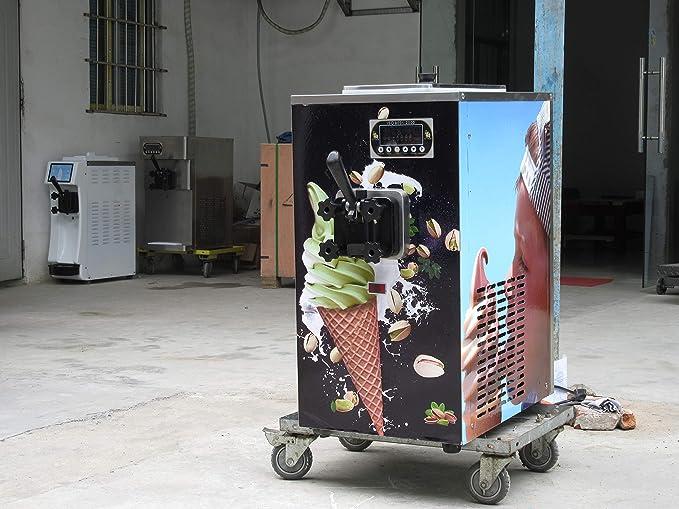 Mini encimera delgada para máquina de hielo suave de escritorio, máquina de helado suave, crema de hielo, crema de hielo, crema de hielo con refrigerante: ...