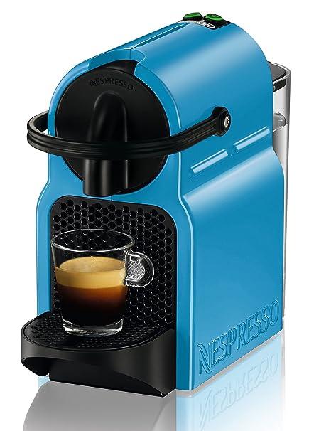 DeLonghi Inissia Cafetera nespresso, programable, 1260 W, 0.8 litros, Acero Inoxidable, Azul