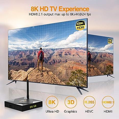 Android TV Box 10.0, NinkBox TV Box Android【4G+64G】con Mini Teclado inalámbirco, Allwinner H616 Quad-Core 64bit Cortex-A53 con WiFi 2.4G/5G, 8K*4K UHD ...