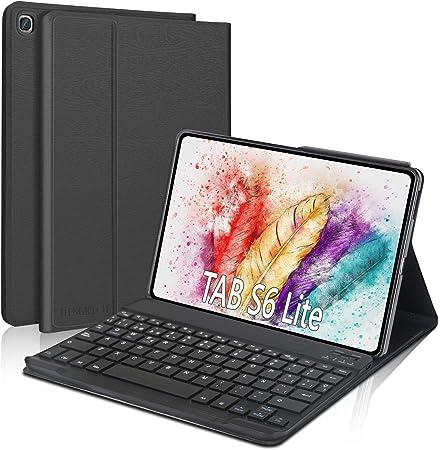 """DINGRICH Funda Teclado Español Ñ para Samsung Galaxy Tab S6 Lite 10.4"""" 2020 P610/P615, Teclado Bluetooth Inalámbrico Extraíble Magnético para Samsung ..."""