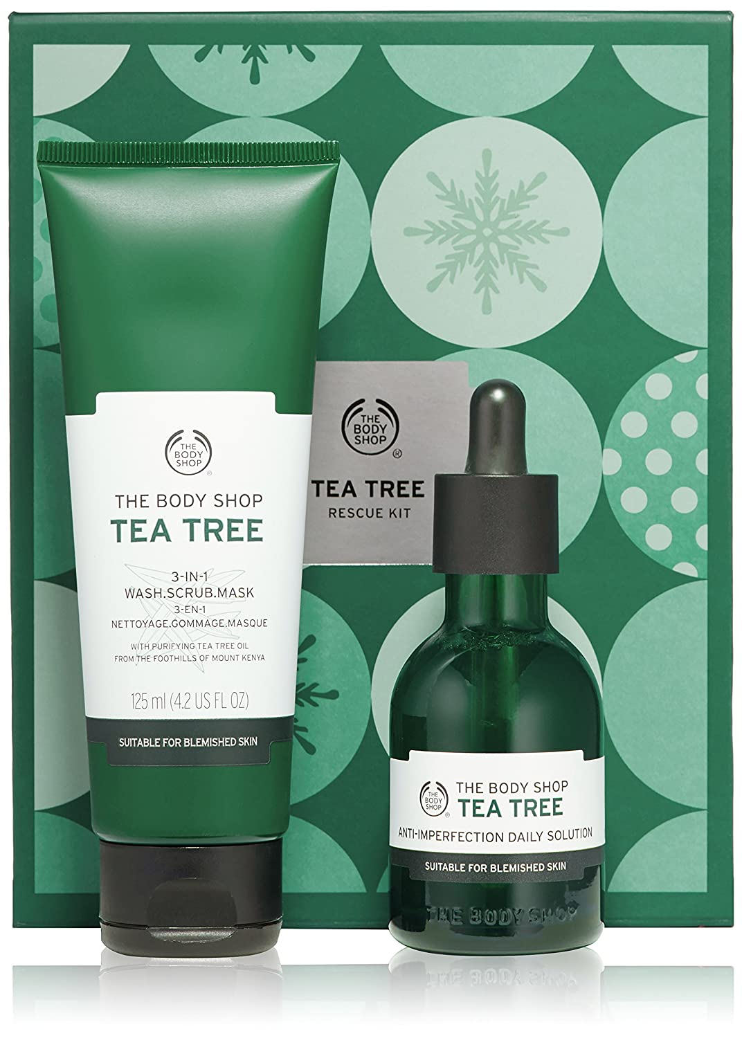 The Body Shop Tea Tree 3-in-1 Wash.Scrub.Mask, Made with Tea Tree Oil, 4.2 Fl. Oz. Buth-na-Bodhaige Inc d/b/a The Body Shop 1096941