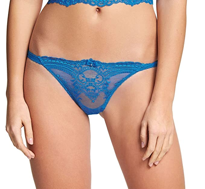 Wacoal Chrystalle Tanga in Blue Lagoon (WE119007) *Sizes S-XL*