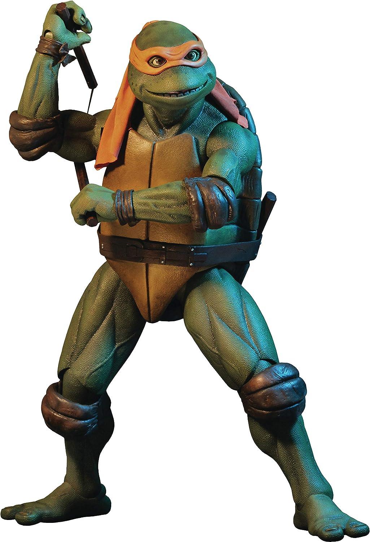 Neca - tartaruga ninja gigante michelangelo tmnt scala 1/4 action figure teenage mutant ninja turtles 54054