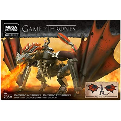 Mega Brands GKG97 Game of Thrones: Daenerys and Drogon Construx, Multi Color: Toys & Games