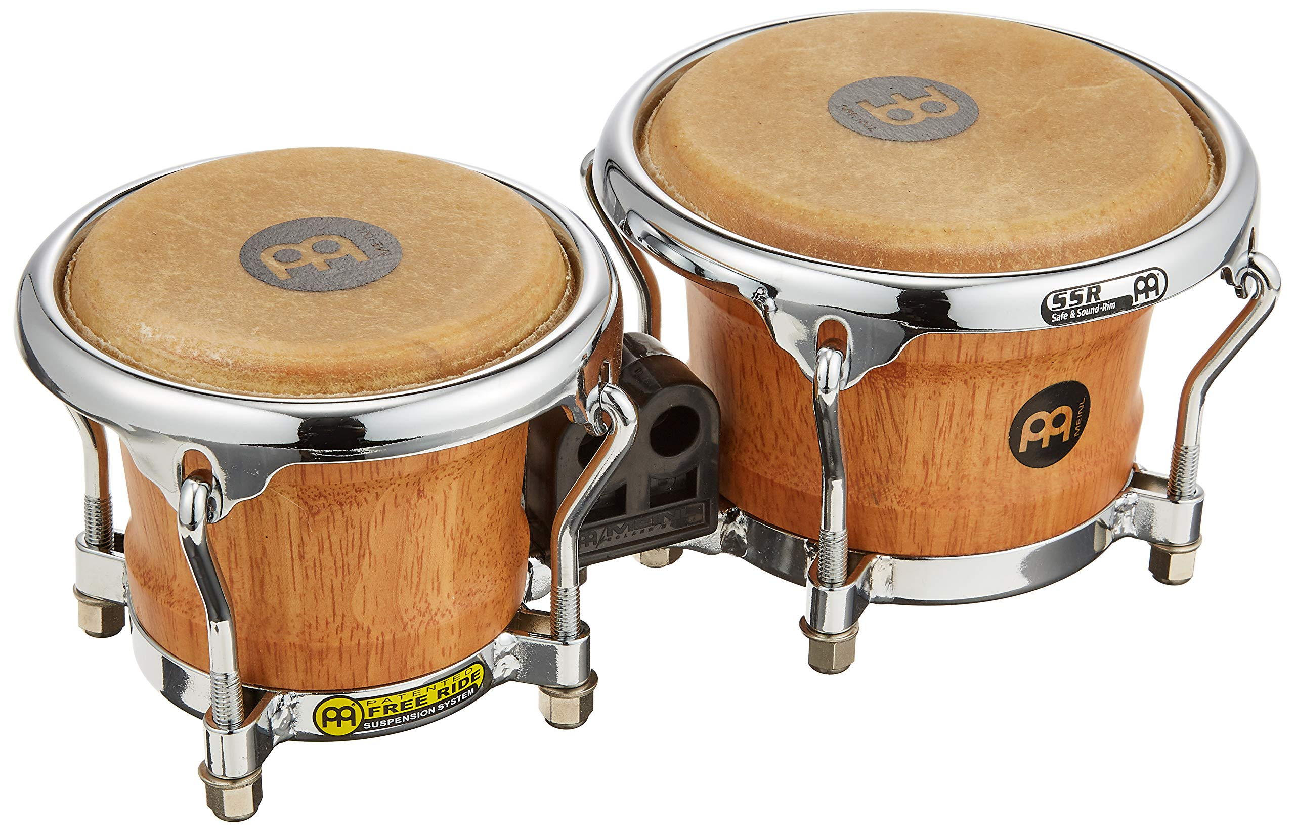 Meinl Percussion Mini Wood Bongos Skin Heads-NOT Made in China-Super Natural Finish and Free Ride Suspension System, 2-Year Warranty (FWB100SNT-M) by Meinl Percussion
