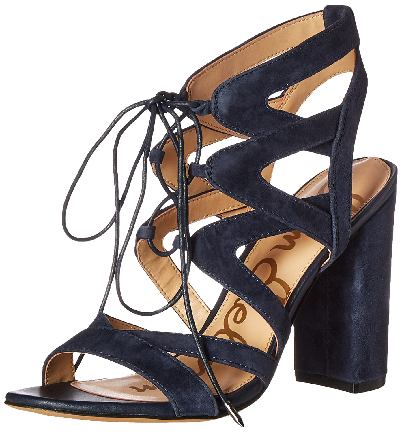 Sam Edelman Wohommes Yardley Heeled Sandal, Inky Navy, 5.5 M US
