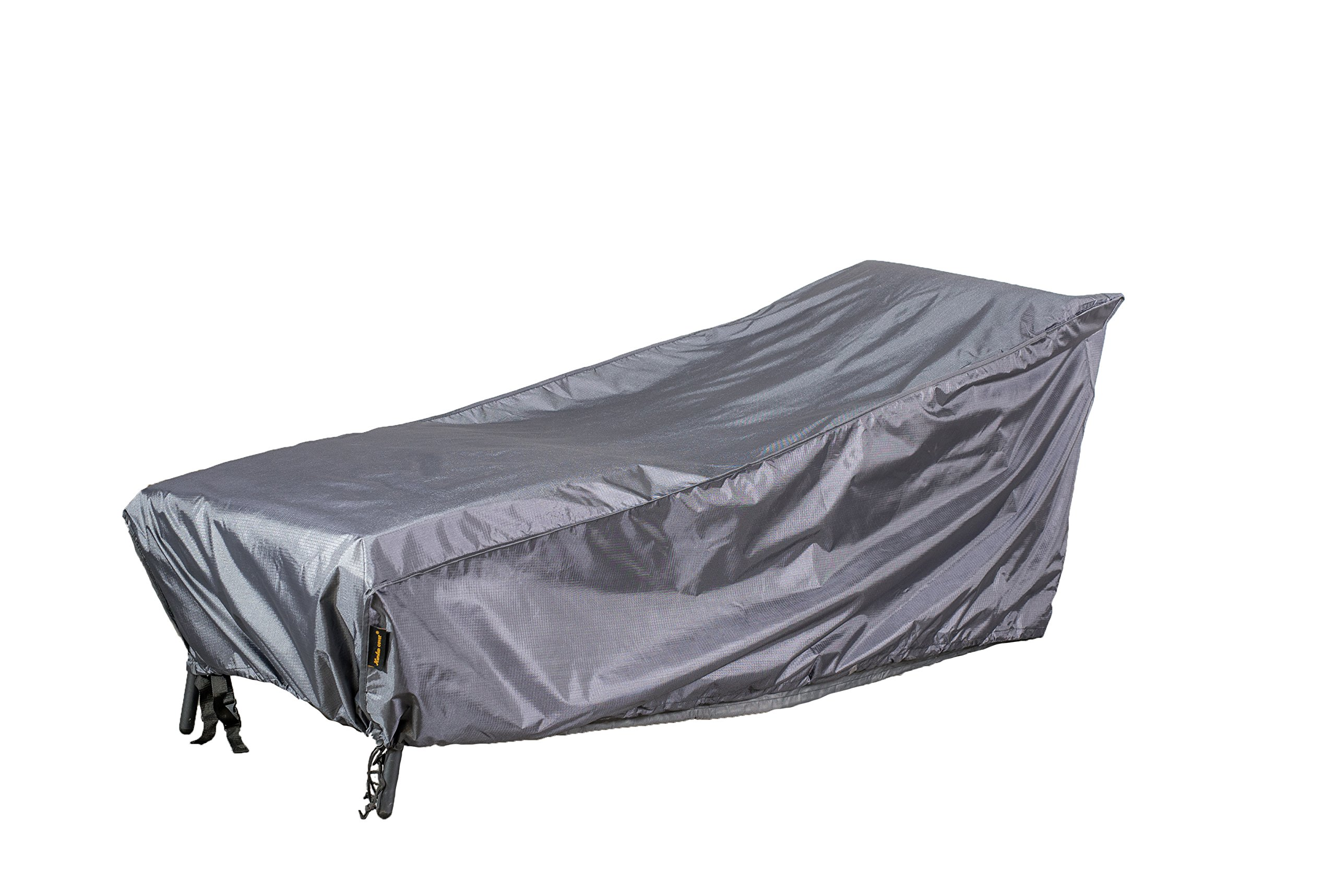 Hentex Cover Outdoor Garden Chaise Lounge Chair Cover with Rip Stop, Water Resistant, Breathable, 2 Layer with TPU fabric (86''×34''×30'')