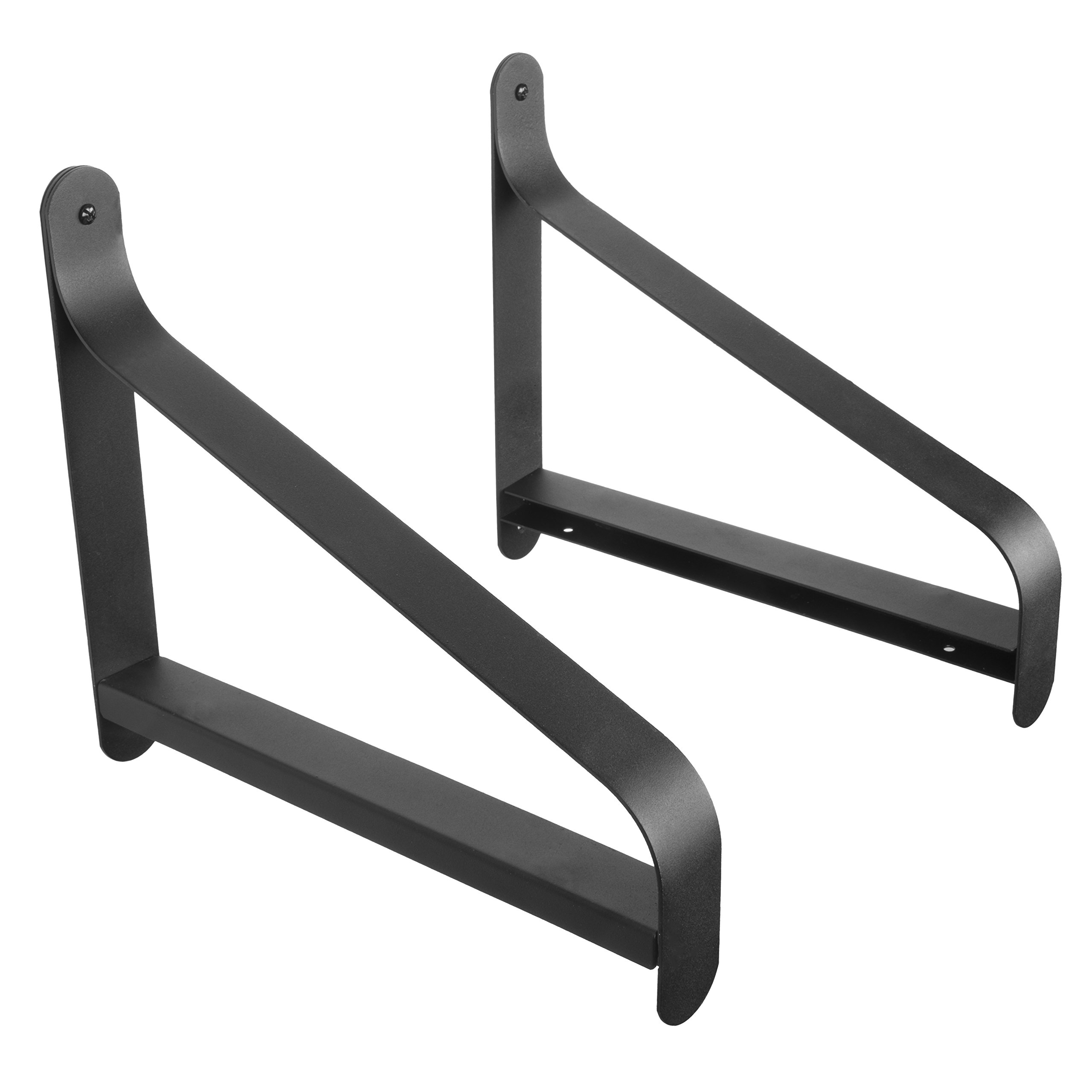 ArtifactDesign Metal Shelf Brackets with Modern Heavy Duty Design Fits Wood Shelves Perfect for Bookcase TV Storage Rack Garage Wall Mounting Pack of 2 (11.5 Inches) by ArtifactDesign