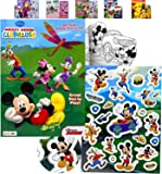 Granshop Disney Mickey Mouse Collection Coloring Book, 3D Puffy Stickers Book Set - Gift, Goodies, Party, Favor, Scrapbooking, Children Craft, Play, School for Kids Boys Girls Toddlers