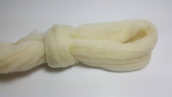 LANA NATURAL XXL 100% MERINO ESPAÑOLA COLOR NATURAL 23 MICRAS 500 gramos: Amazon.es: Hogar