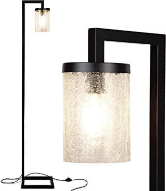 Brightech Henry Industrial Floor Lamp With Hanging Crackled