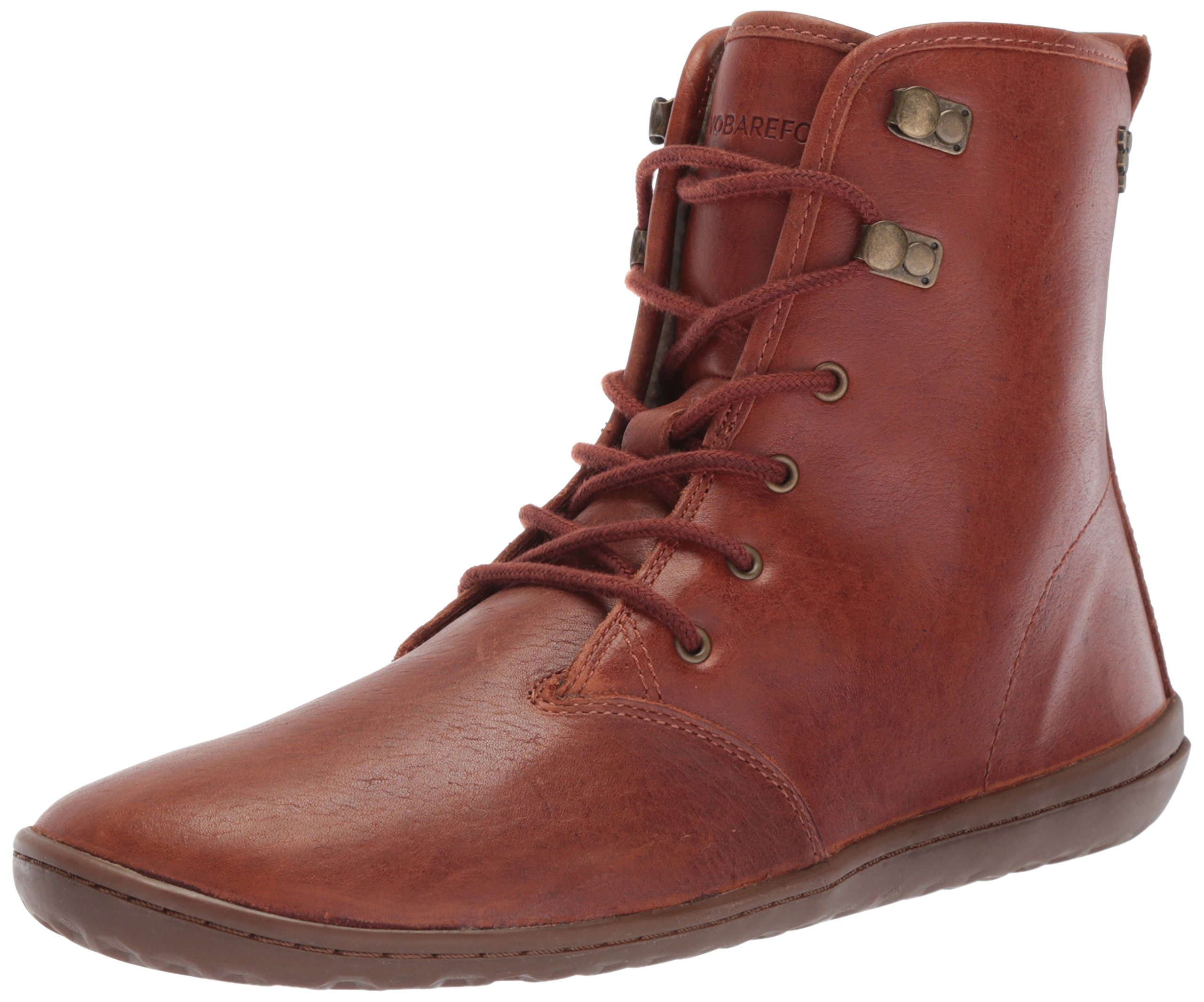 Vivobarefoot Women's Gobi Hi Top Classic Lace up Winter Boot, Tobacco, 40 D EU (9 US) by Vivobarefoot