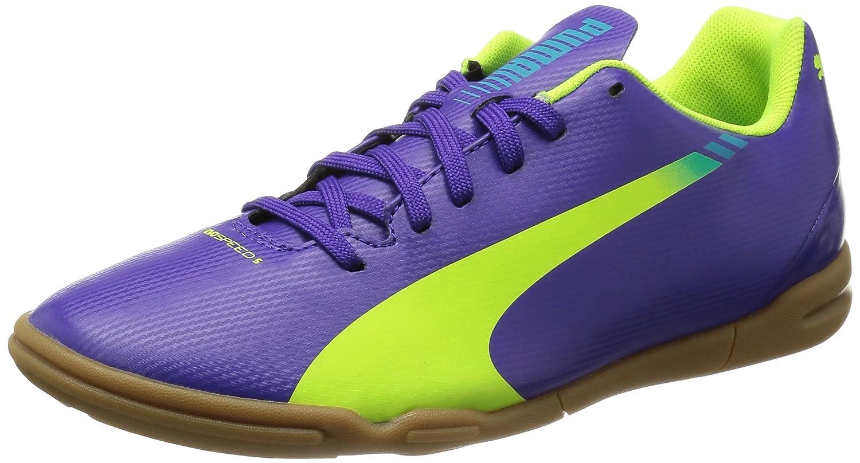 Puma Evospeed 5.3 It - Zapatillas, color morado (prism violet/fluro yellow/scuba blue 01), talla 37.5 EU (4.5 niños UK): Amazon.es: Zapatos y complementos
