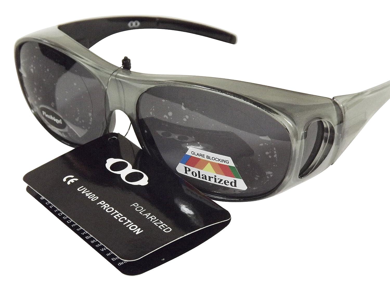 Sonnen-Überbrille mit Flexbügeln versch. Farben UV 400 Polarisiert im Set (Silbergrau) bI8Q5cs3c