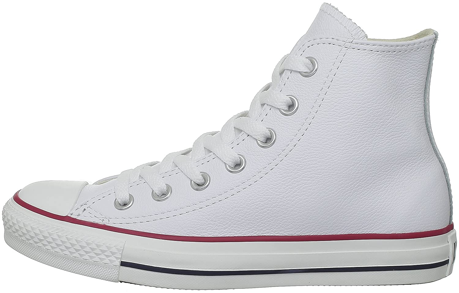 Converse Chuck Taylor All Star Leather High Top Sneaker B01GB4CD4E 5.5 D(M) US White
