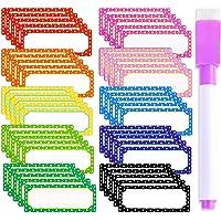 10 Kleuren 50 Stuks Sticky Labels Stickers, Naam Plate Labels met een Pen, Sticky Labels, Magnetic Dry Erase Labels voor…