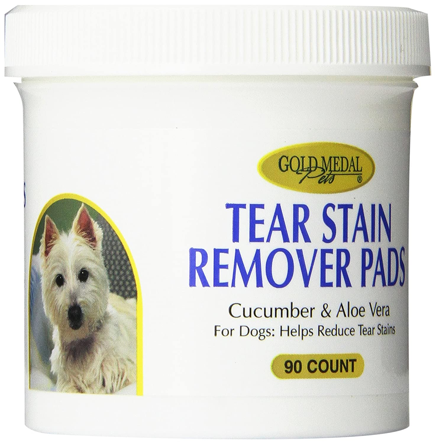 gold Medal Pets Tear Stain Remover Pads for Dogs 90 Count