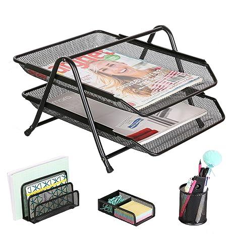Amazon.com: Exerz - Organizador de escritorio de malla de ...