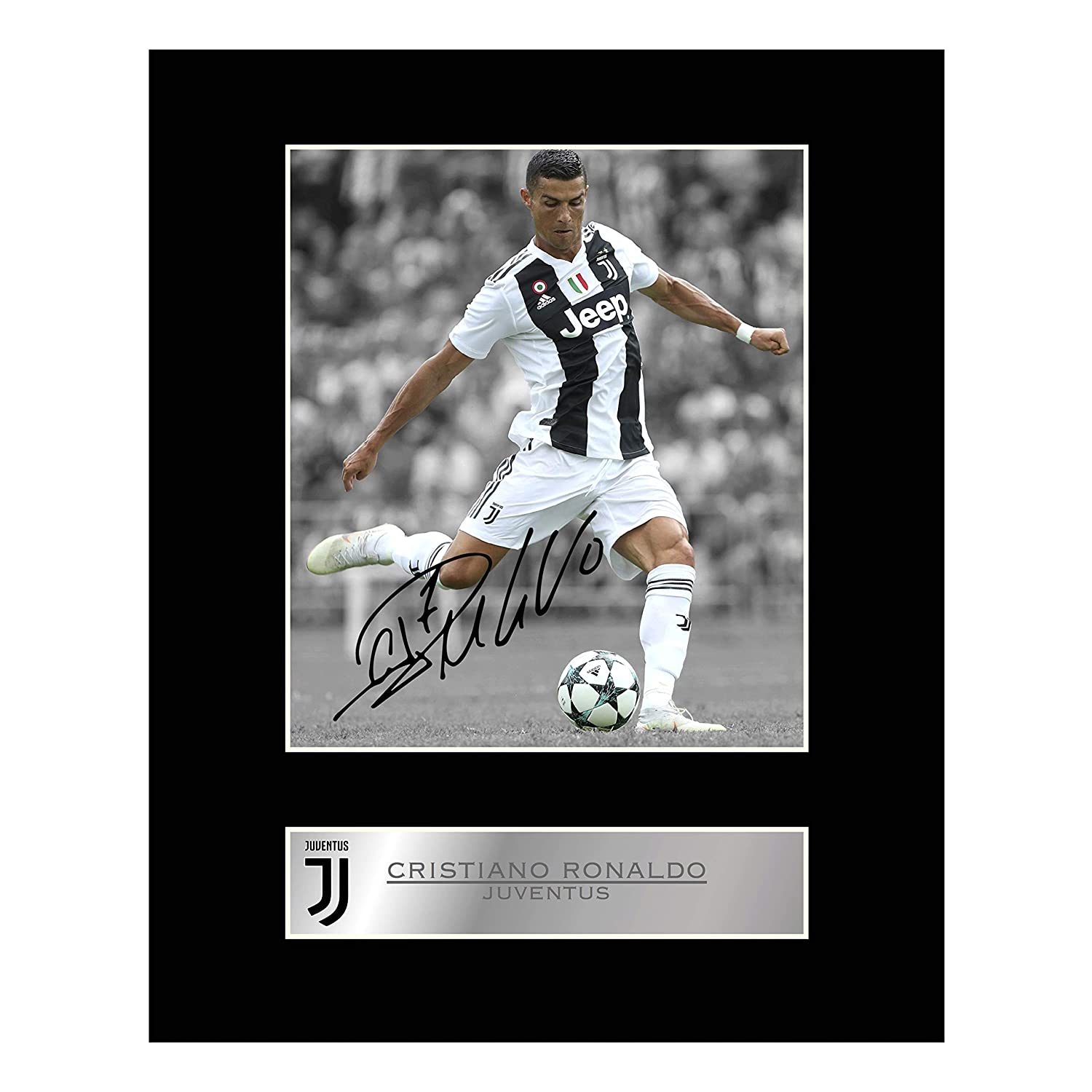 Cristiano Ronaldo Signed Mounted Photo Display Juventus FC Autographed Gift Picture Print Iconic pics