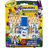 Crayola Pip-Squeaks Colored Pencils 18-Count with Sharpener