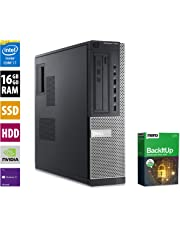 PC Gamer Multimédia Unité Centrale Dell 7010 DT - Nvidia Geforce GTX1050 - Core i7-3770 @ 3,4 GHz - 16Go RAM - 1000Go HDD - 240Go SSD - Graveur DVD - Win10 Pro 64 Bits (Reconditionné Certifié)