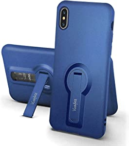 iPhone X/XS Case, Vivafree [Elegance Series] Premium Cute Slim Fit Bling Diamond Girls Phone Cover Case with Luxury Ring Kickstand for Apple iPhone X/XS - Royal Blue