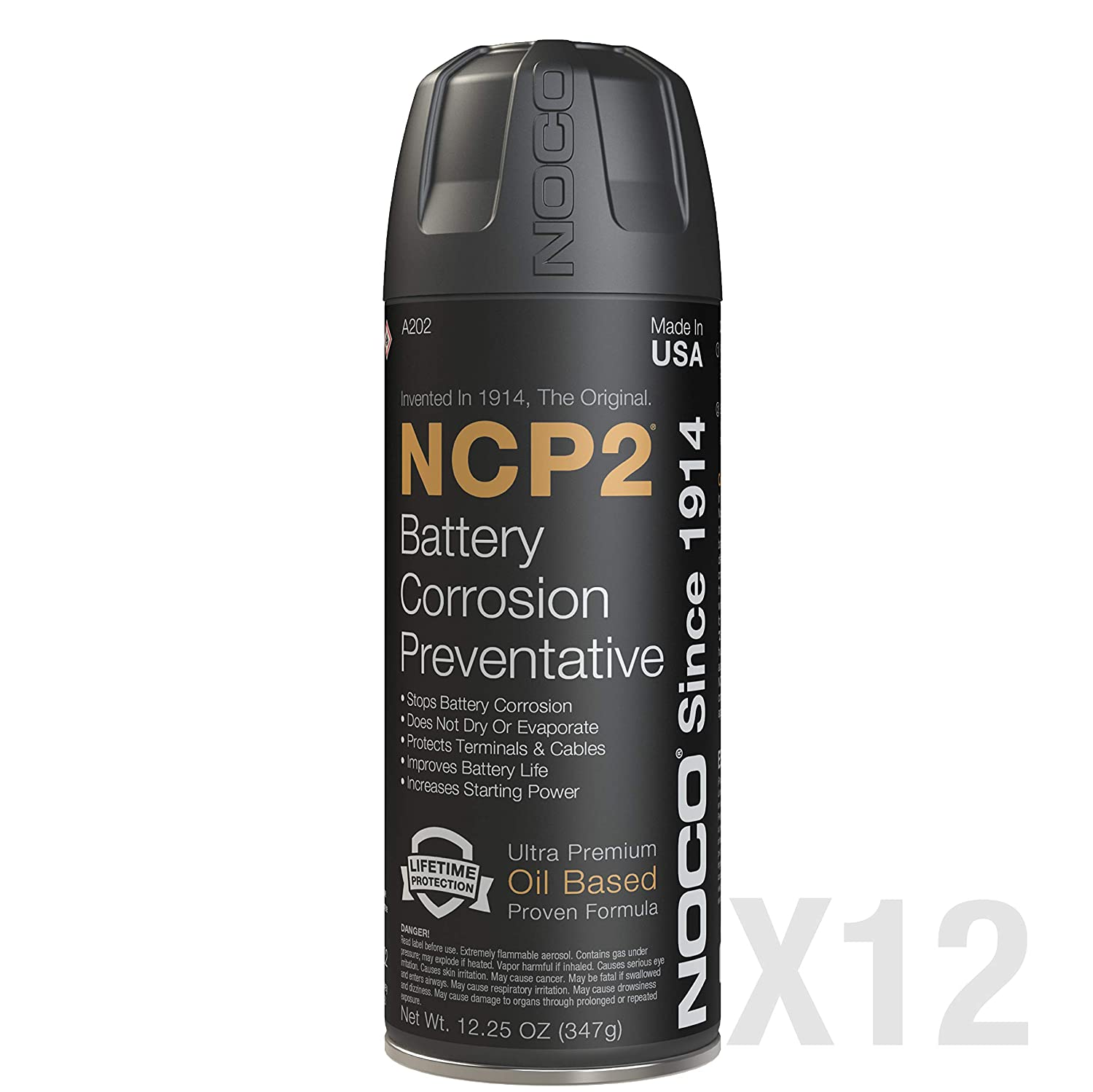 NOCO NCP2 A202 12.25 Oz Oil-Based Battery Corrosion Preventative Spray (Pack of 12)