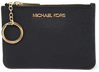 Michael Kors Jet Set Travel Small Top Zip Coin Pouch with ID Holder Saffiano Leather - 2020 Style - Multiple Colors!
