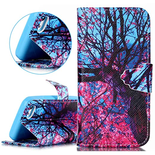 18 opinioni per ISAKEN Custodia iPhone 5C, iPhone 5C Cover Case, Elegante borsa Custodia in