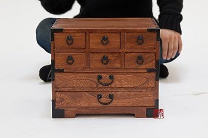 Amazoncom Japanese tansu style jewelry box KB22 8 drawers box