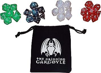 Accesorios de juego de roles para mazmorras y dragones Northern Lights Dice Set DnD Gaming Dice Set 28 piezas Kit de dados poli/édricos de 4 colores juegos de rol de MTG y de mesa