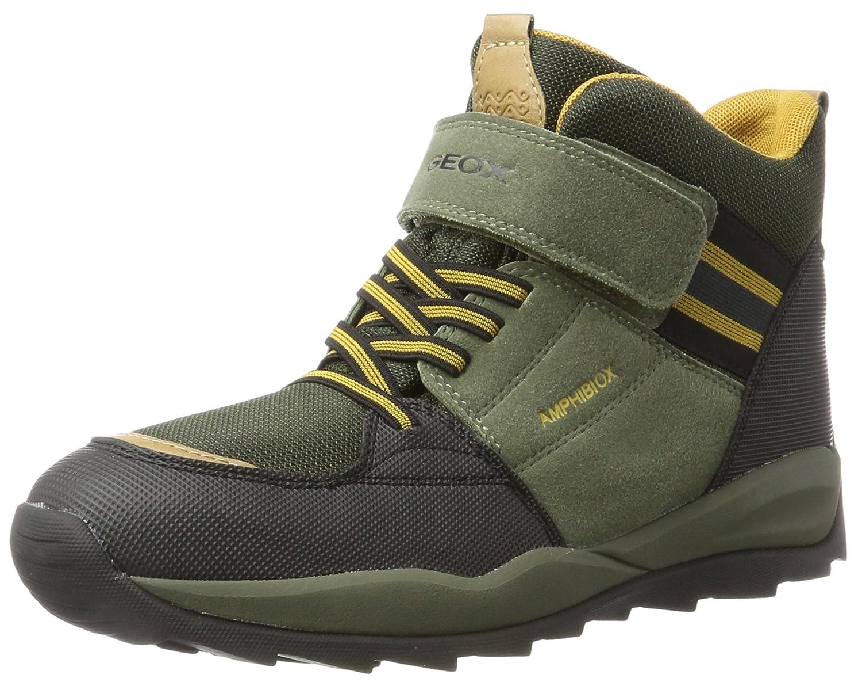 Geox J Orizont ABX B, Botas de Nieve Unisex Adulto41 EU|Verde (Military/Dk Yellow)