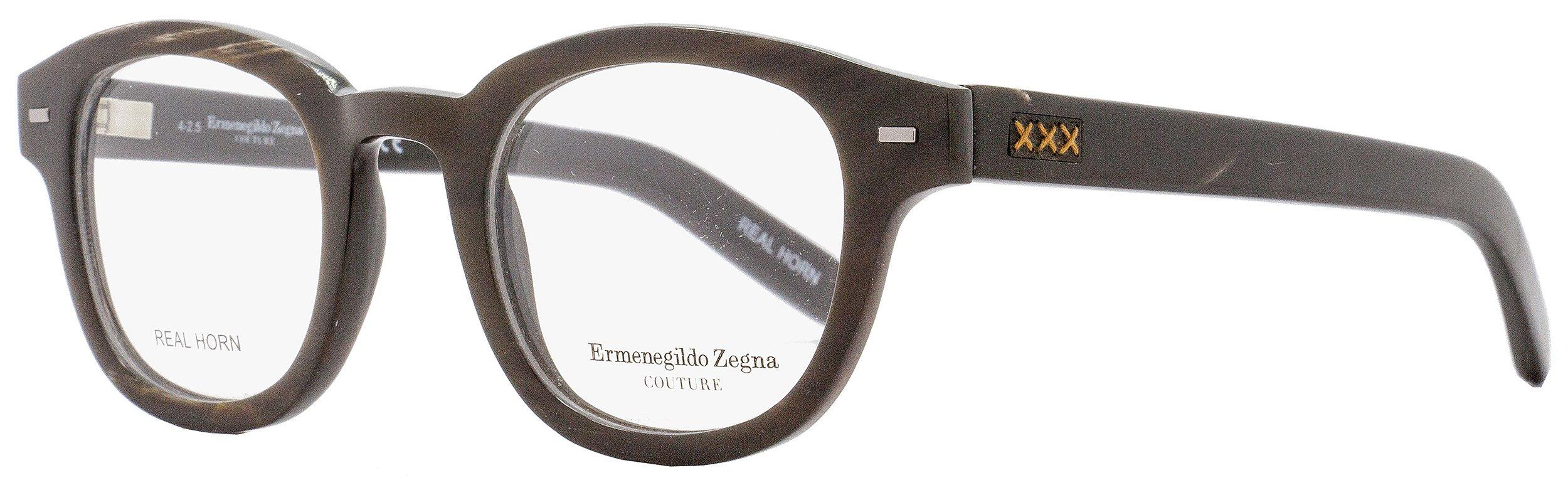 Ermenegildo Zegna Couture Prescription Eyeglasses - ZC5014 062 - Brown Horn