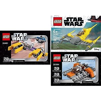 LEGO Star Wars 20th Anniversary Edition Sets (3) Snowspeeder 30384 PODRACER 30461 Naboo Starfighter 30383 Building Set LEGO Bundle Pack (3) Edition Building Set: Toys & Games