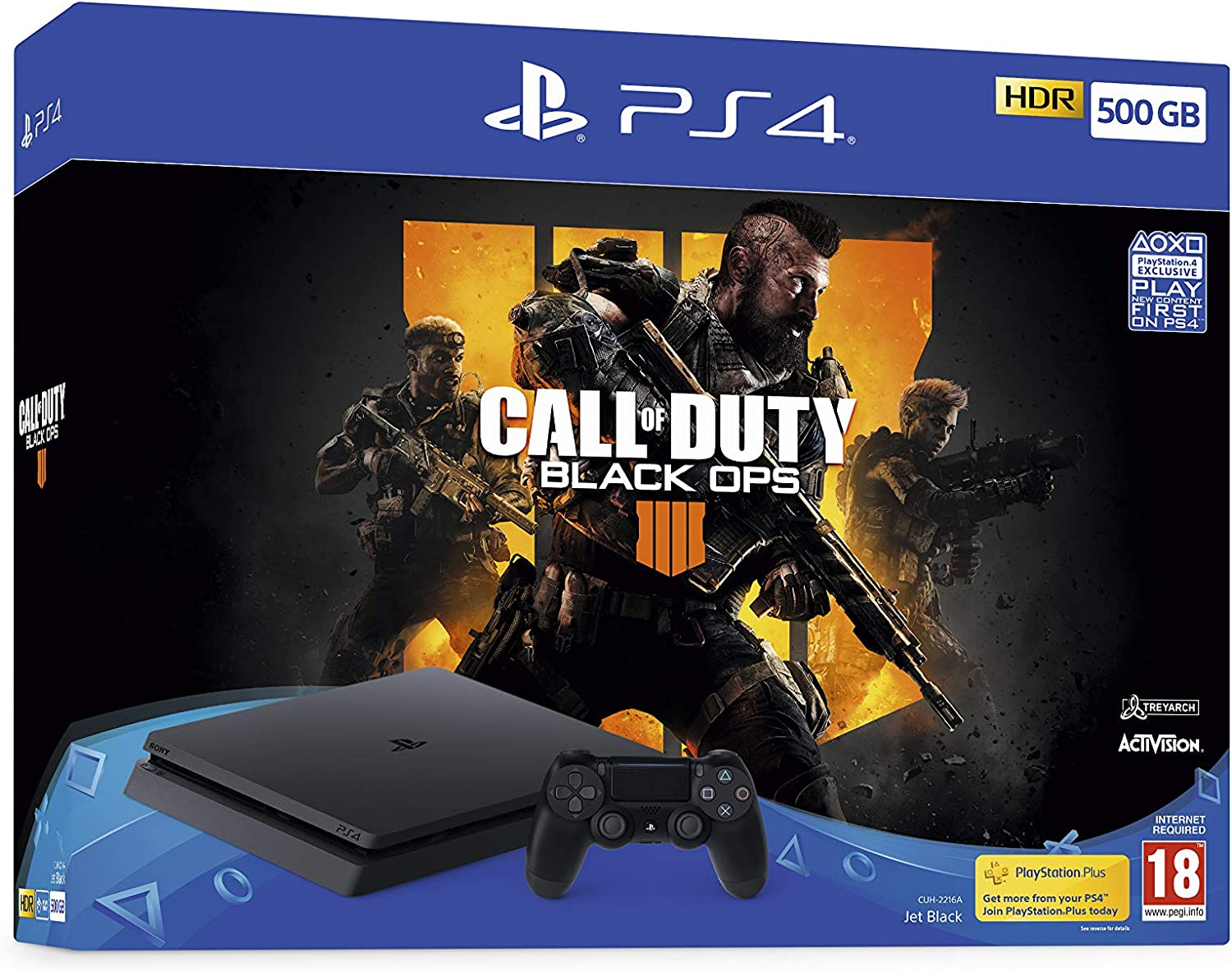 Sony PlayStation 4 500GB Console (Black) with Call of Duty: Black Ops IIII Bundle [Importación inglesa]: Amazon.es: Videojuegos