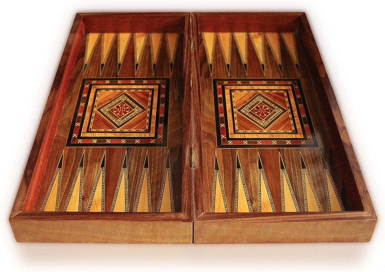 Neu Holz Backgammon//Schach,Dama,Brett Damaskunst,30 Holz  Backgammon Steine inkl