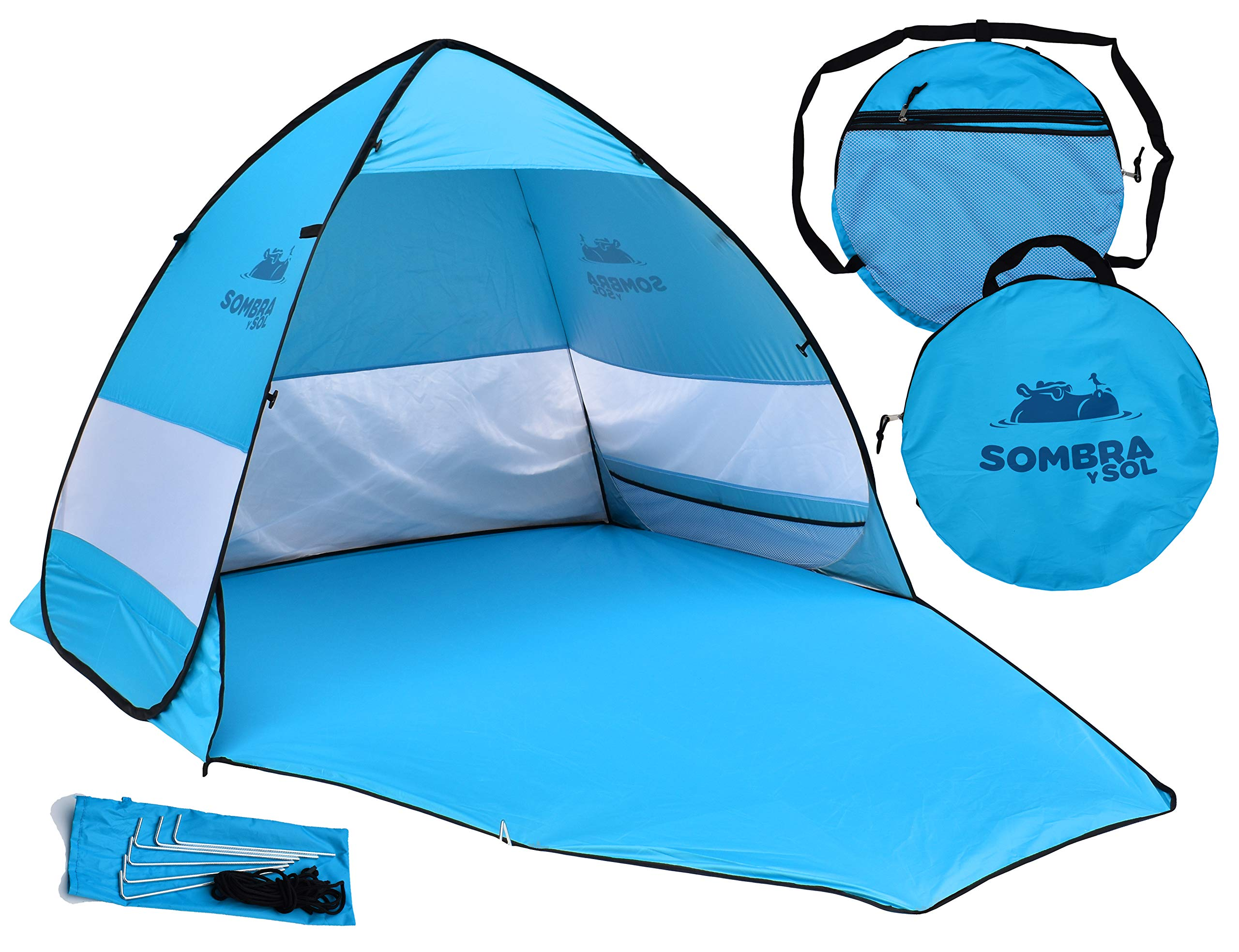 Sombra y Sol Pop Up Beach Tent UV Protection Sun Shade Canopy Instant Shelter Cabana by SOMBRA Y SOL