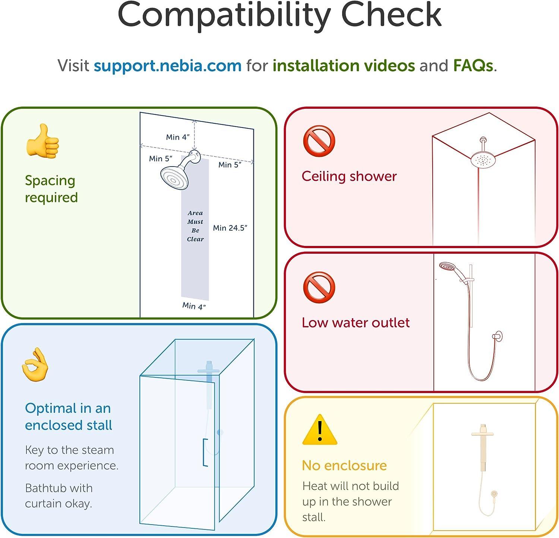 nebia sistema de ducha, de la ducha Premium sostenible: Amazon.es ...