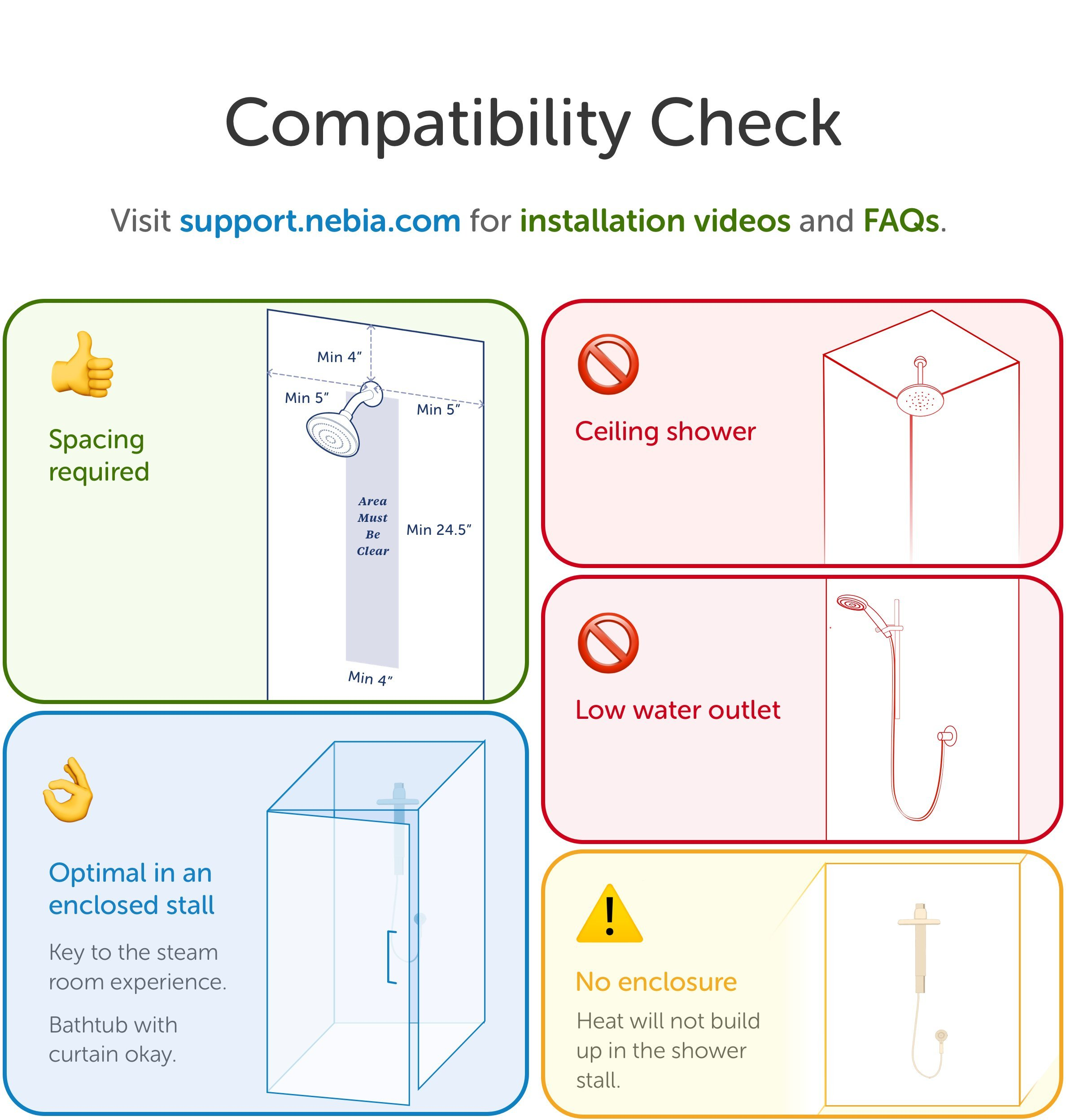Nebia Spa Shower: Luxury Water Innovation. Sustainable Atomizing Shower System with 10'' Head, Handheld Wand, Adjustable Height. Award Winning Design, Aluminum, Easy DIY Install. Made in USA. by Nebia (Image #7)