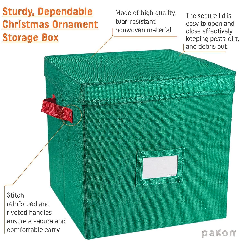 Amazoncom Pakkin Christmas Ornaments Storage Box With Lid And 4