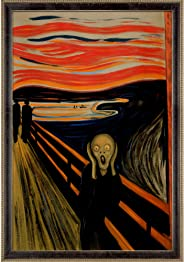 La Pastiche MU1594-FR-8381024X36 The Scream with Antiqued Athenaeum Scoop Framed Hand Painted Oil Reproduction, 39.5